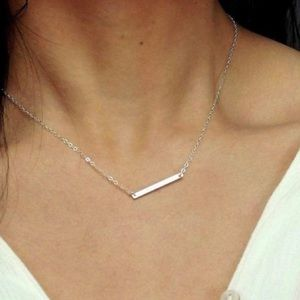 NWT silver bar necklace
